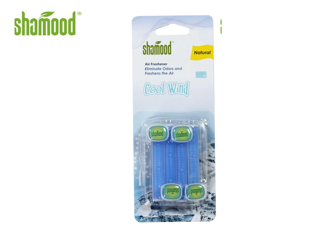 Cool Wind Air Vent Perfume 4 Strips/Pack  Air Freshener Triple Refills