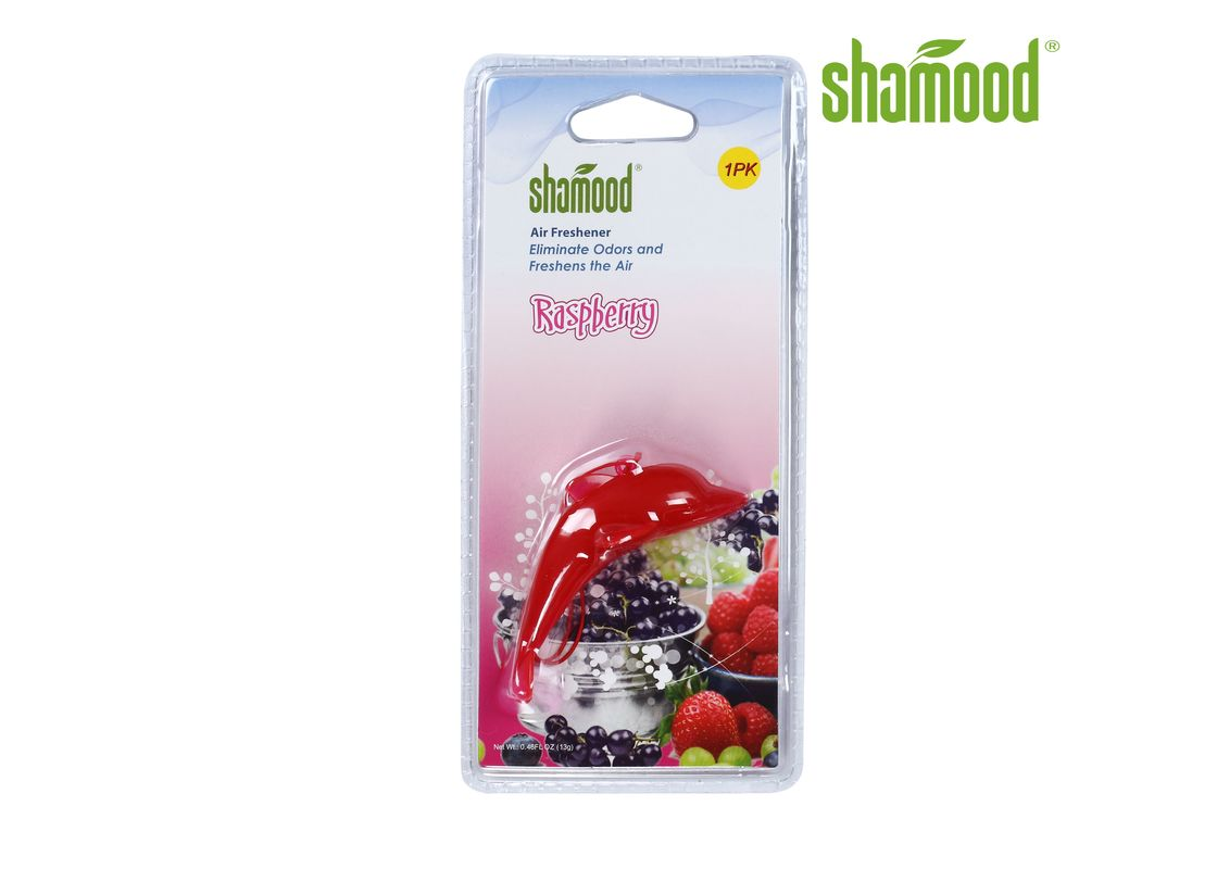 Customized Raspberry Plastic ODM Car Smell Remover